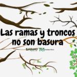 Las ramas y troncos no son basura
